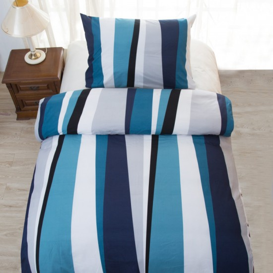 Saten bedding BLUE LINE 140x200