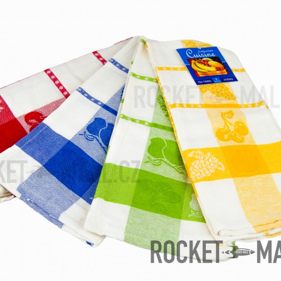 Kitchen towels 45x65 4 PCs  (mixed colors)
